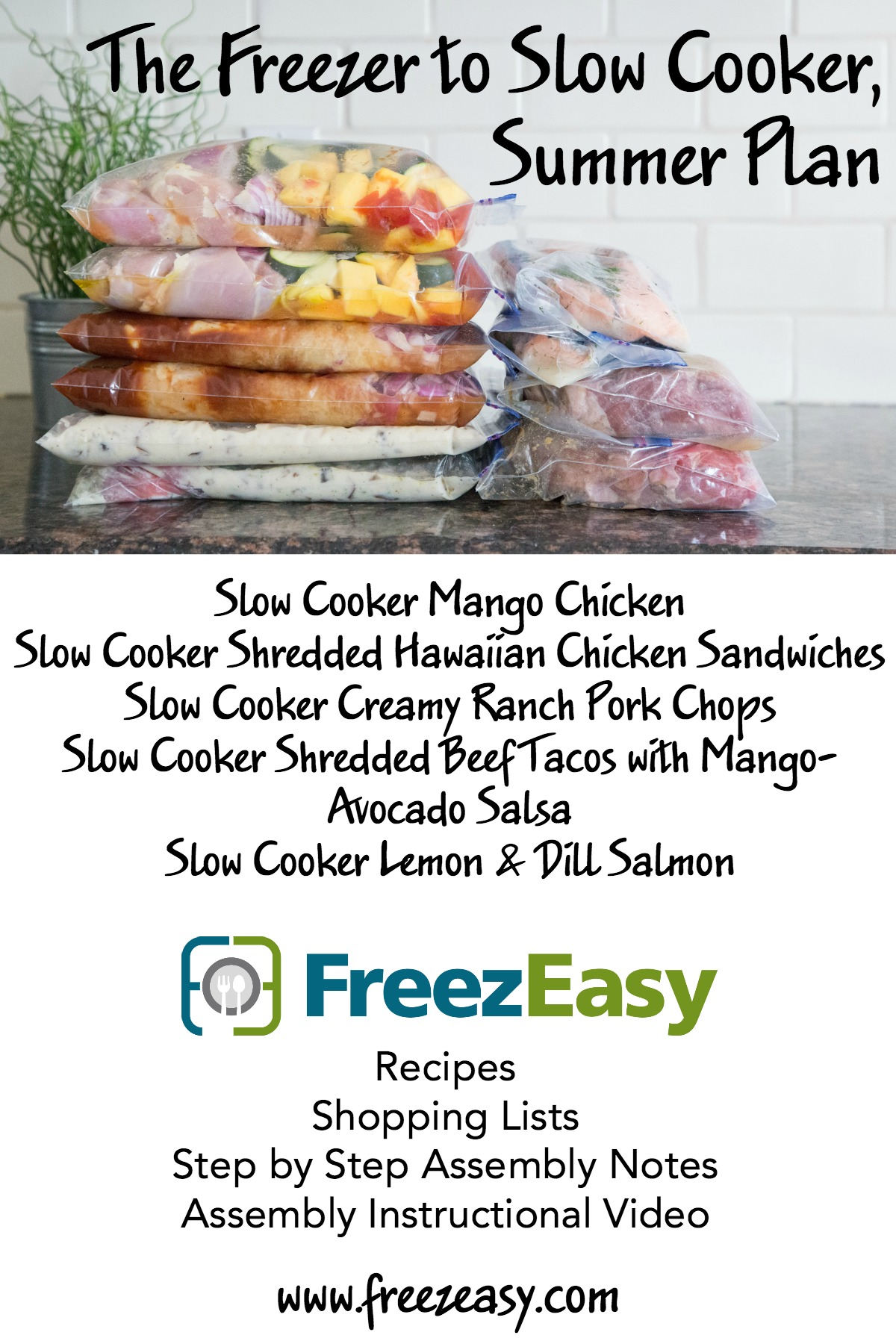 Summer Freezer to Slow Cooker Meals at FreezEasy.com